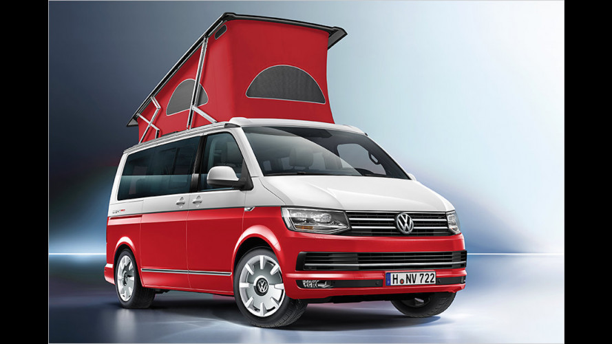 VW California: Ocean Red, Ocean Blue und Ocean Grey
