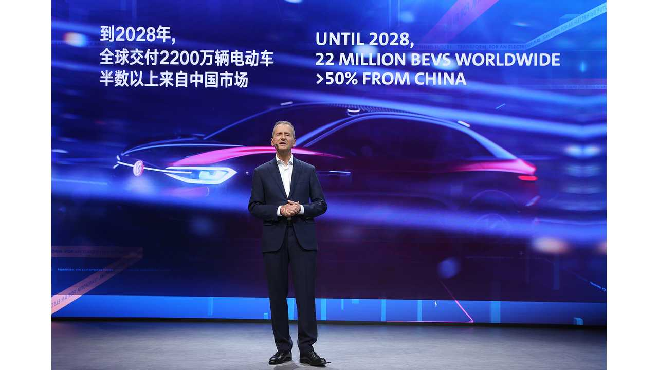 Volkswagen Group To Produce 22 Million EVs By 2028: Over 50% In China