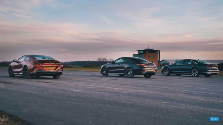 BMW 840d, Mercedes E400d, Audi A8 50 TDI In Diesel Drag Race