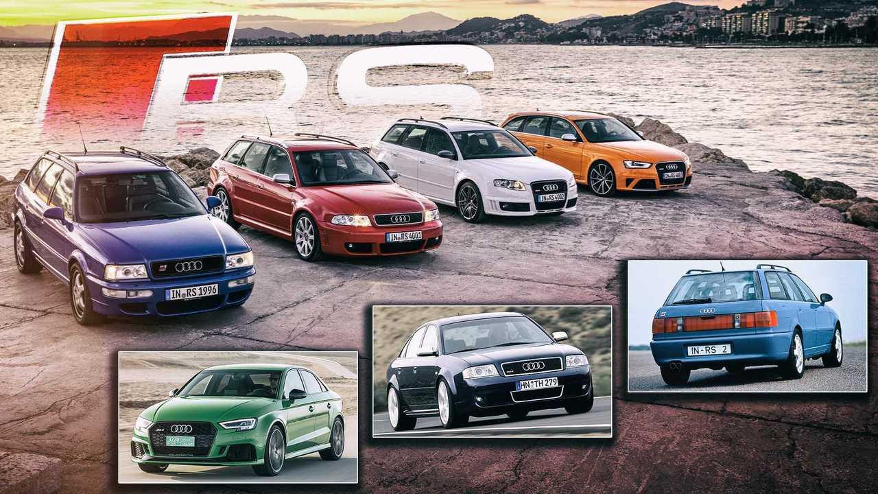 Audi 25 Jahre RS-Modelle
