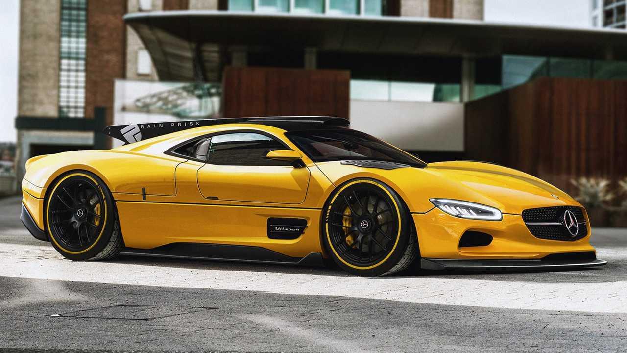 Mercedes-Benz CLK GTR rendering
