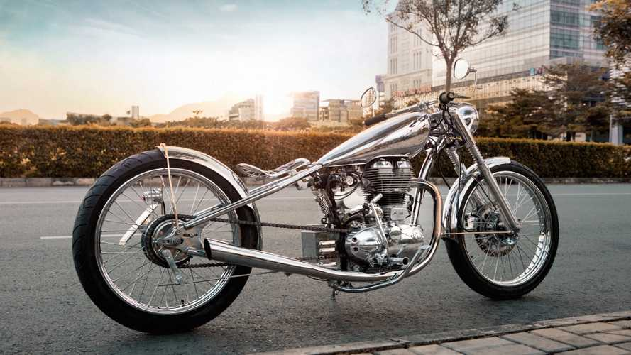 Chromed & Bobbed: Bandit9's 'Merlin' Royal Enfield Bullet 500
