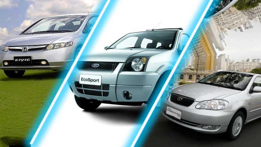 New Civic, EcoSport, Corolla e outros carros que foram moda no Brasil