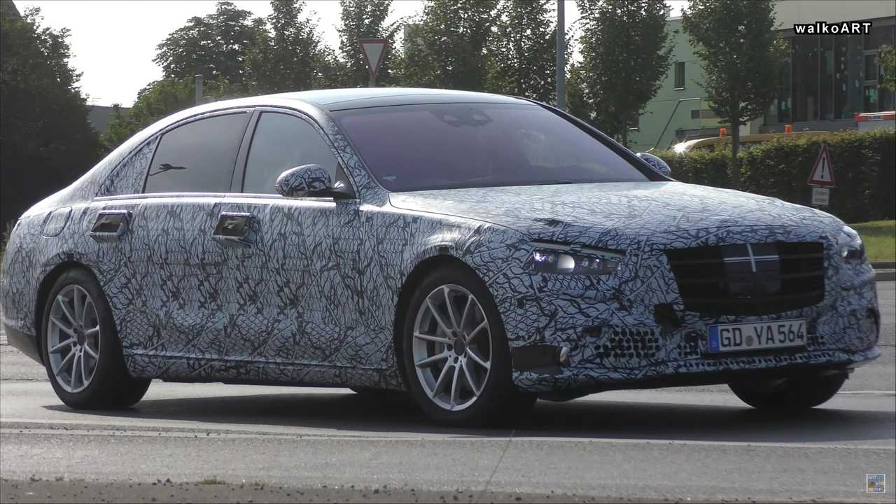 2021 mercedes sclass sedan spied looking stately on the
