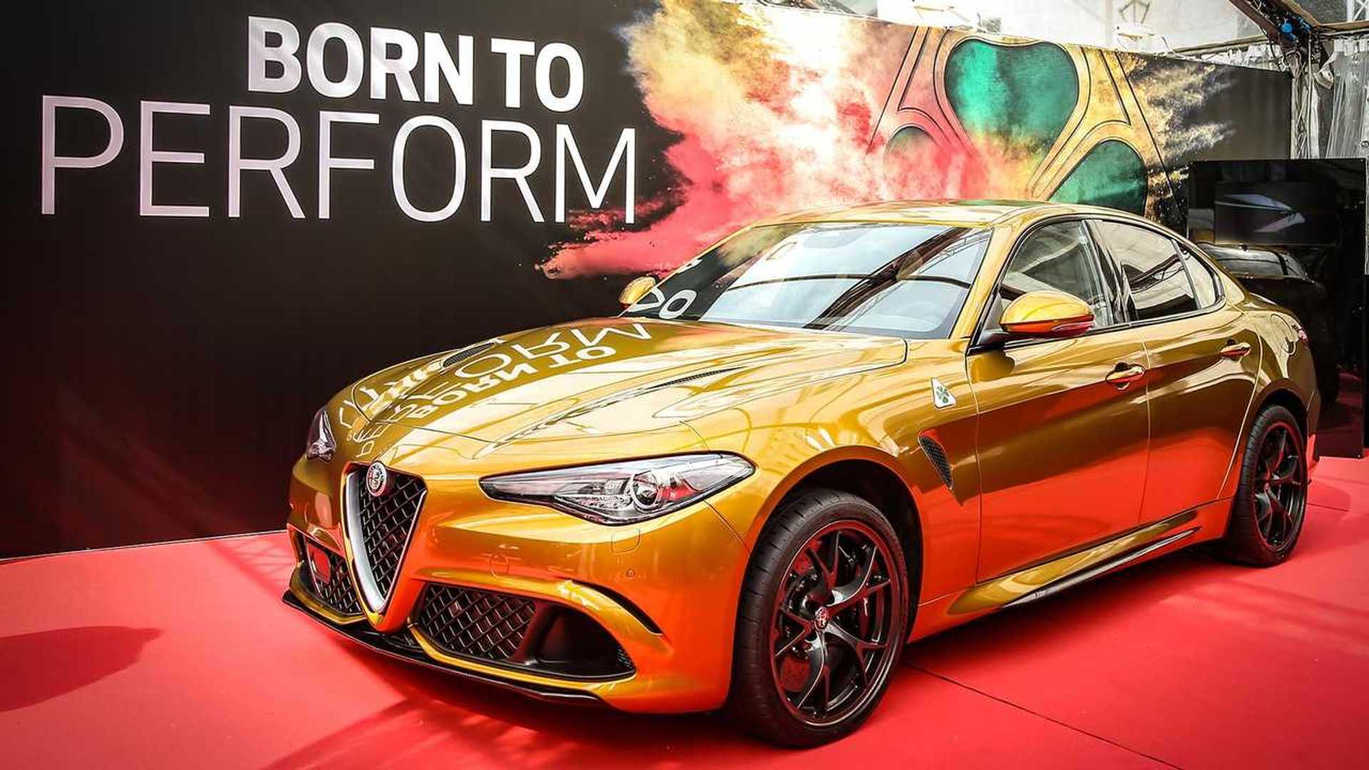 Unique Alfa Romeo Giulia Gets Retro Inspired Ochre Paint