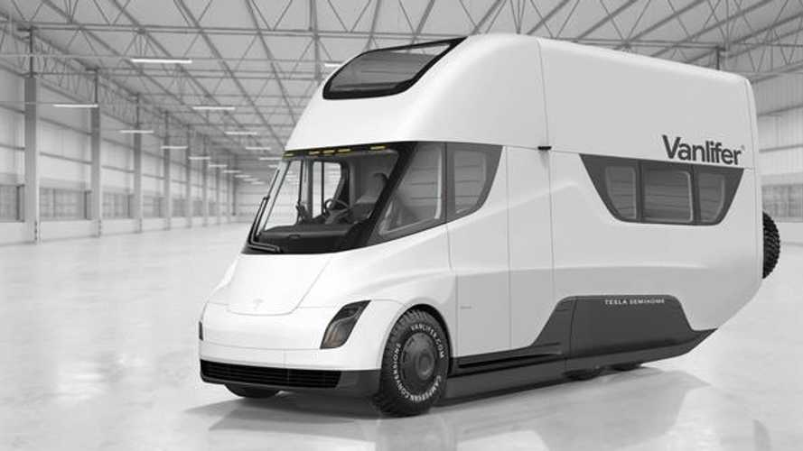 Rad RV Render: Tesla Semi Transformed Into Motorhome (Semi-Home)