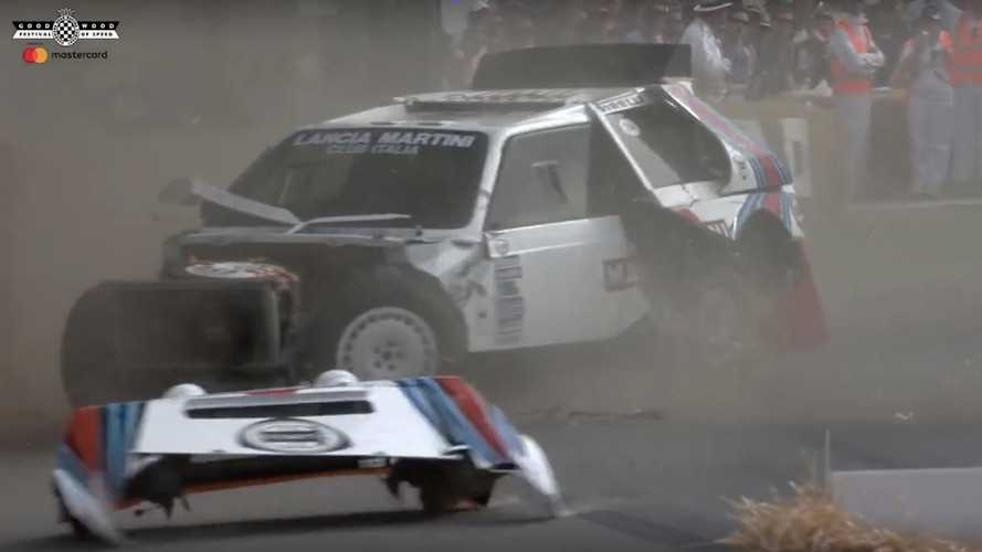 A Lancia Delta S4 Just Crashed At The 2019 Goodwood FoS