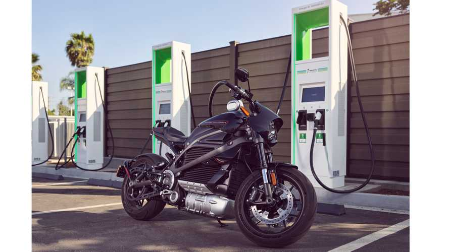 Harley-Davidson LiveWire charging at Electrify America