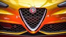 Alfa Romeo Giulia Quadrifoglio Ocra alla Mille Miglia 2019