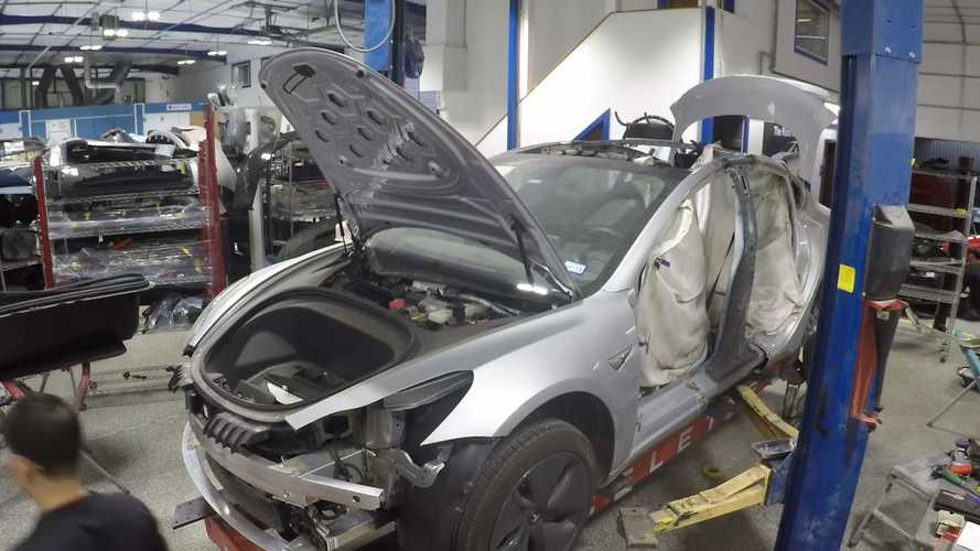 "Watch This Tesla Repair: Flight Of The Bumble ""B"" Pillar"