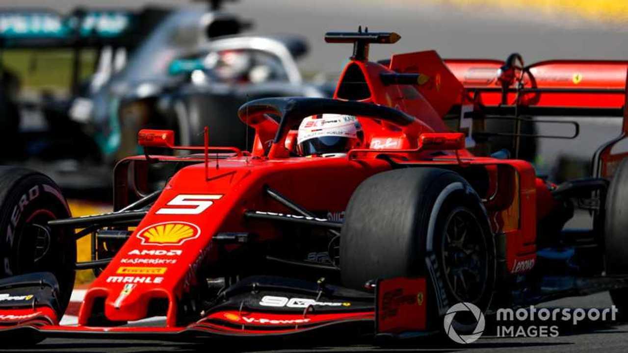Sebastian Vettel leads Lewis Hamilton at Canadian GP 2019