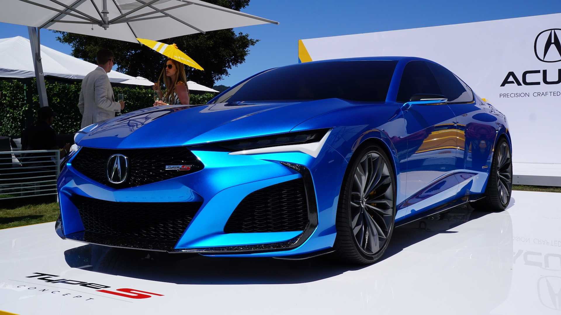 acura type s concept  nsx indy yellow pearl dazzle at pebble beach