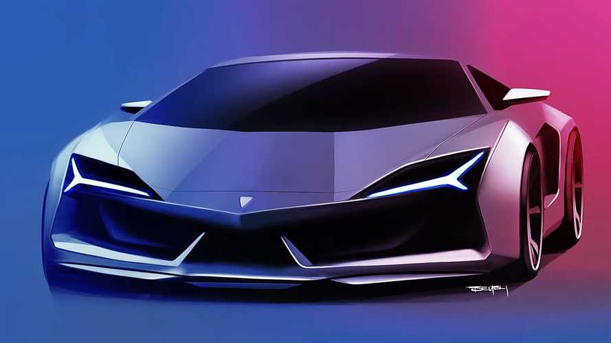 Lambo Aventador successor rendering proposes evolutionary design