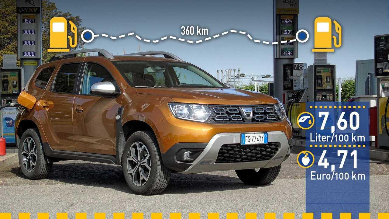 Dacia Duster LPG im Verbrauchstest