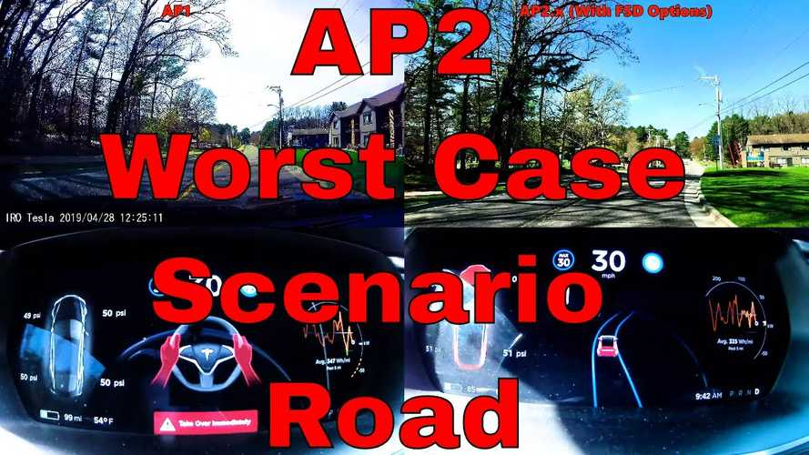 Tesla Autopilot 1 vs. AP2: Incredible Improvements On Difficult Road