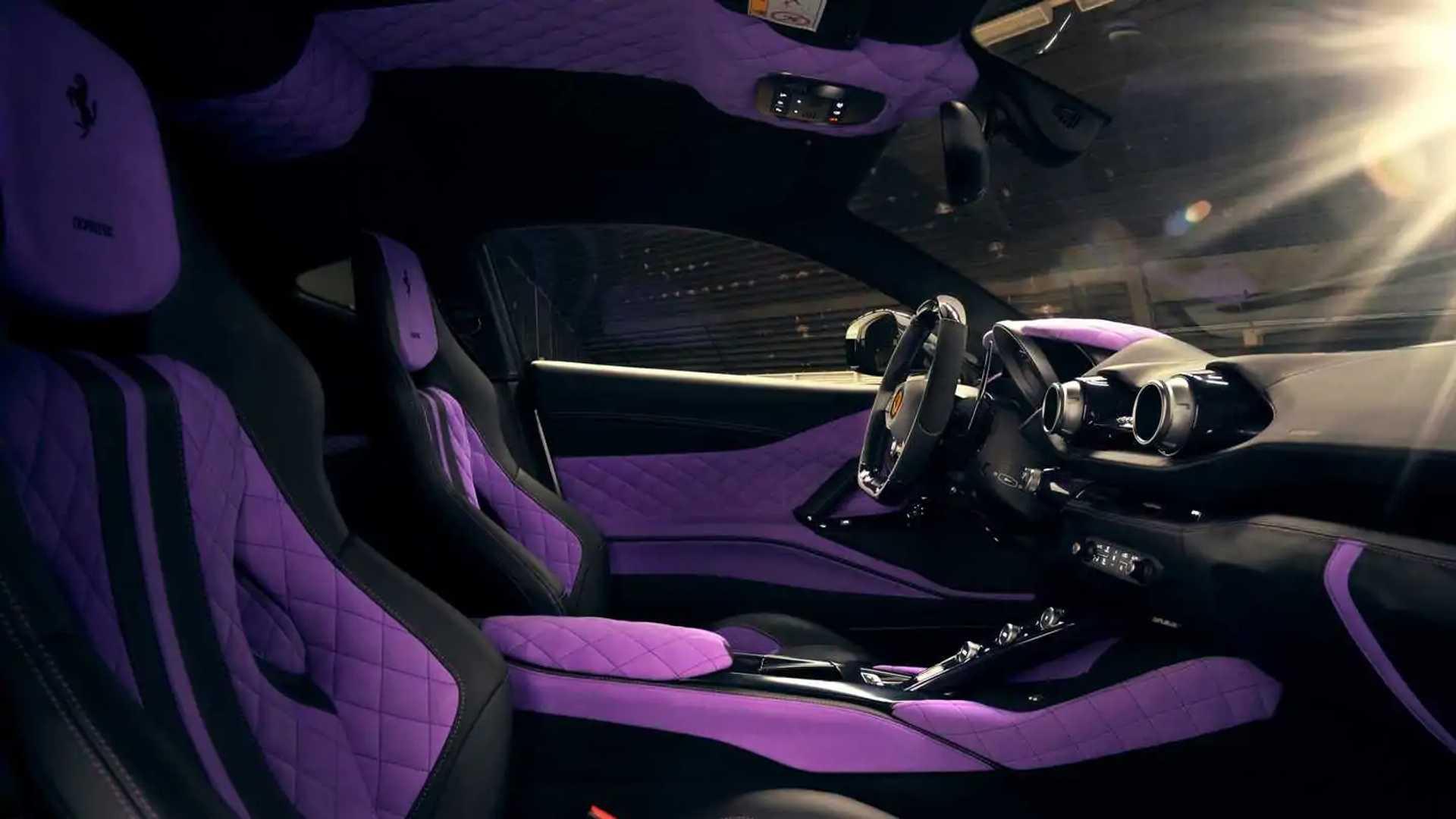 Ferrari 812 Widebody By Novitec Has Wild Purple Interior