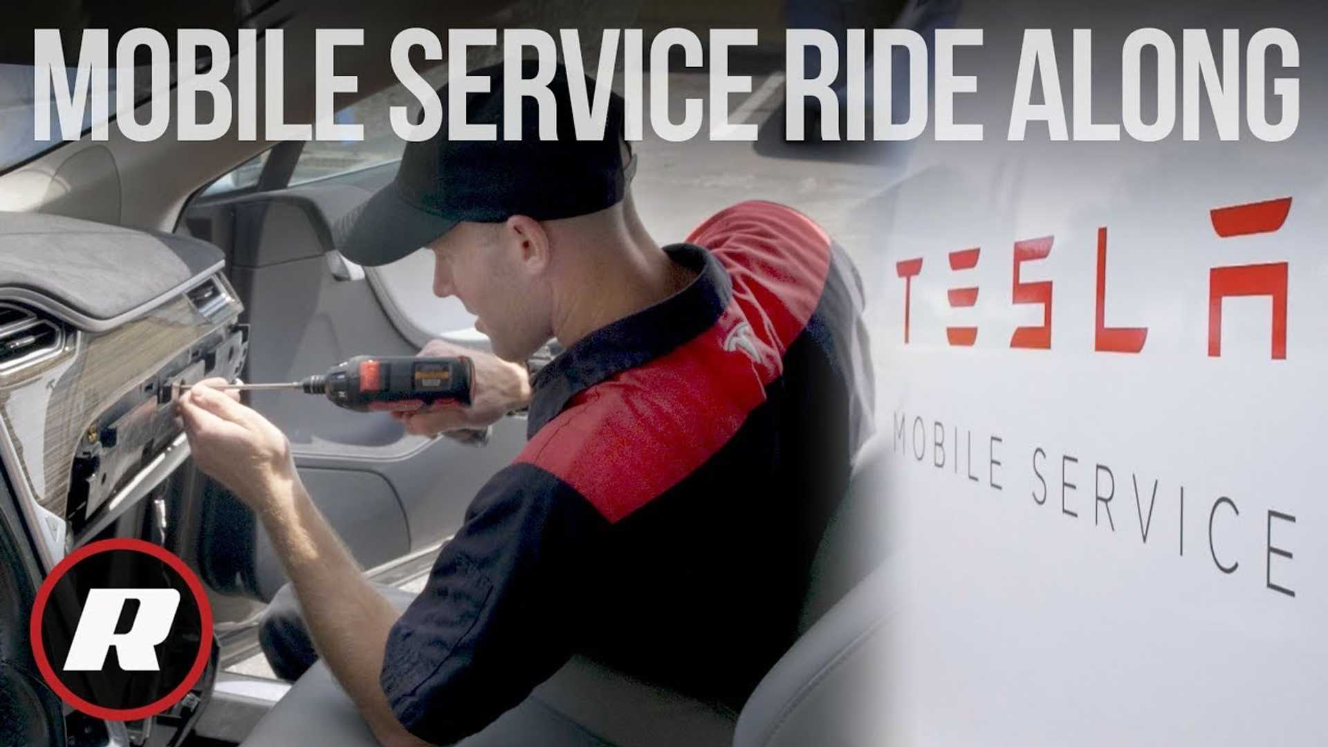 Roadshow Rides Along With Tesla Mobile Service: Video
