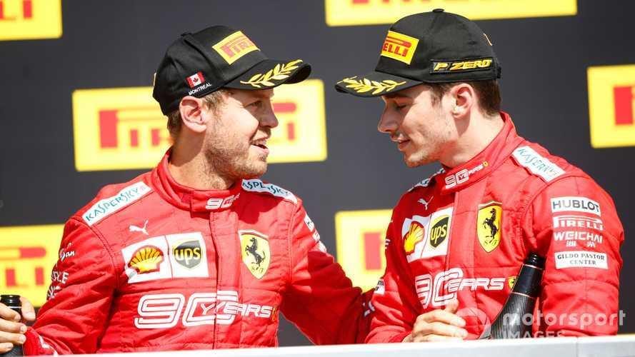Sebastian Vettel and Charles Leclerc on podium at Canadian GP 2019