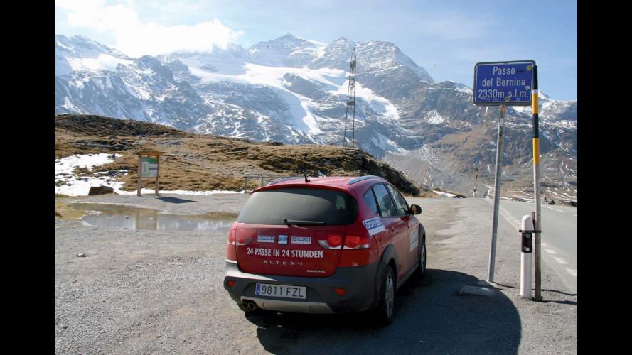 Seat Altea Freetrack scala le montagne