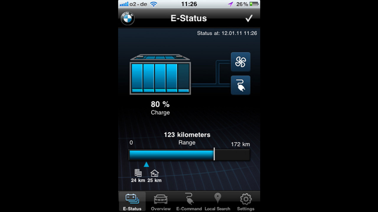 BMW ActiveE - Applicazione iPhone
