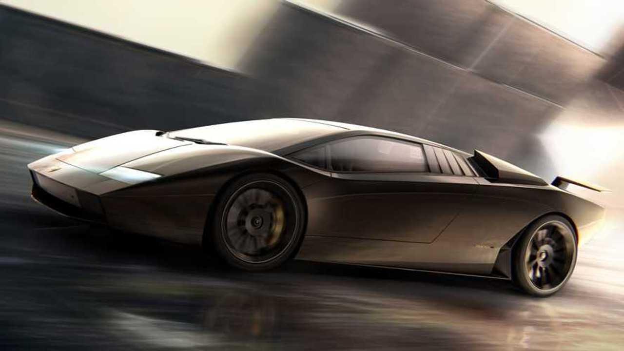 Rendering tidak resmi Lamborghini Countach 50.