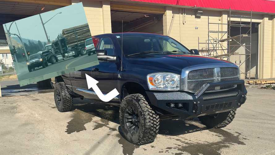 Yes, That Dodge Ram Pickup Really Towed A Fully Loaded Logging Rig