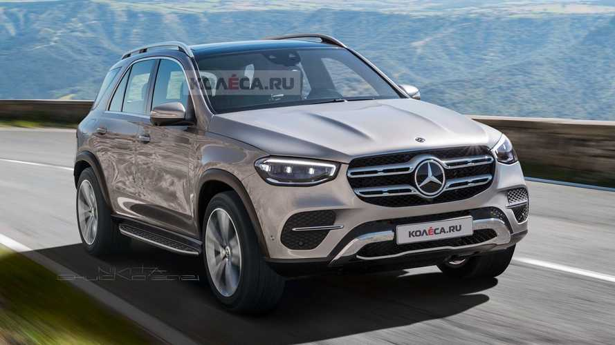 Mercedes GLE Facelift Unofficially Rendered With S-Class Lights