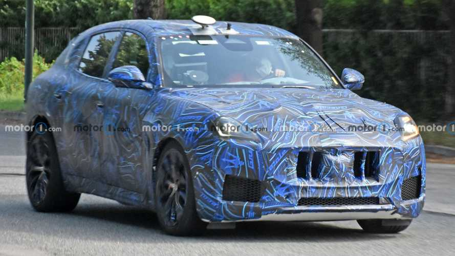 Maserati Grecale spied with wild wheels, different exhaust tips
