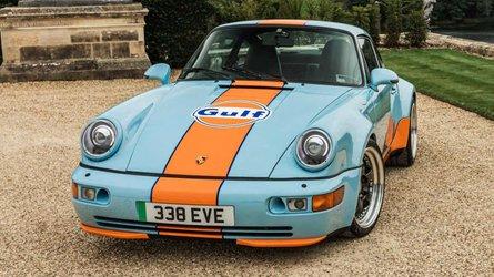 UK: Everrati's latest Porsche 964 EV conversion rocks Gulf Oil livery