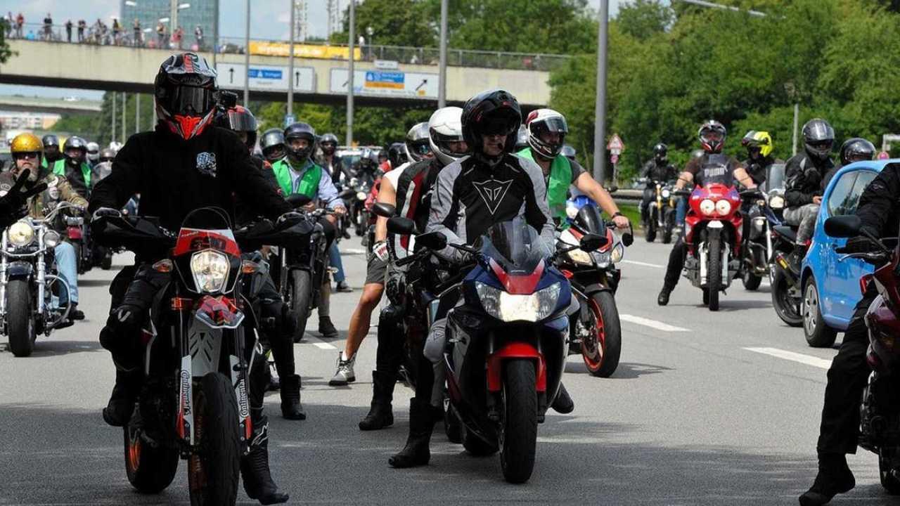 Protestos de moto na Alemanha
