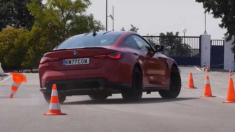 Sportkocsihoz mérten elég rosszul ment a BMW M4-nek a jávorszarvas-teszt
