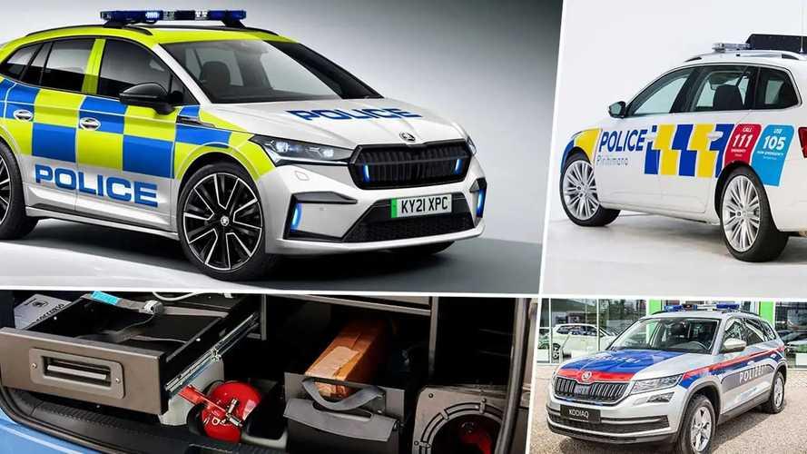 Skoda Modelle als Polizeifahrzeuge 2021