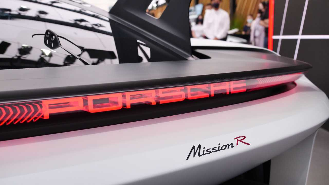 Live photos of Porsche Mission R from IAA 2021