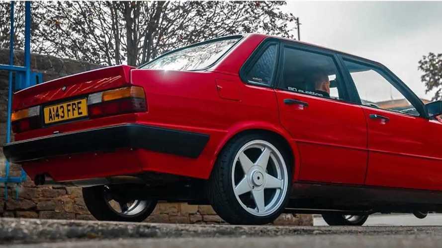 Un'Audi 80 con un segreto da 610 CV