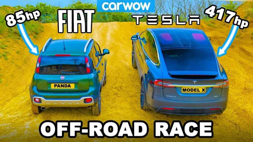 Tesla Model X Beaten By Fiat Panda Cross In Off-Road Challenge