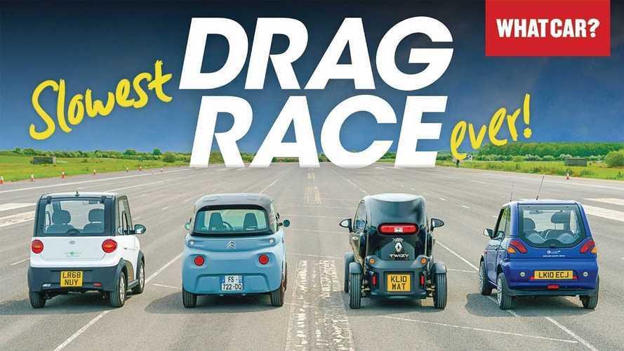 Avrupa'nın en ufak 4 elektrikli aracının yarış videosunu izleyin!