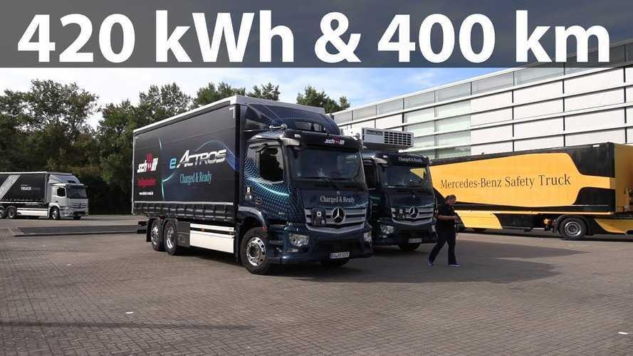 Bjørn Nyland Checks Out Mercedes-Benz eActros Electric Truck
