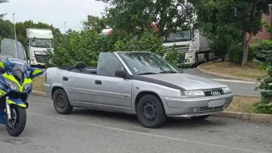 La policía francesa detiene un Citroën Xantia ¡cabrio!