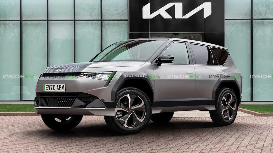 SUV elétrico da Kia com porte de Sorento ganha projeção