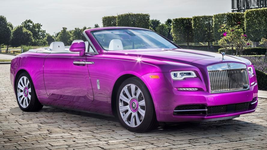 Rolls Royce Dawn, fucsia di lusso