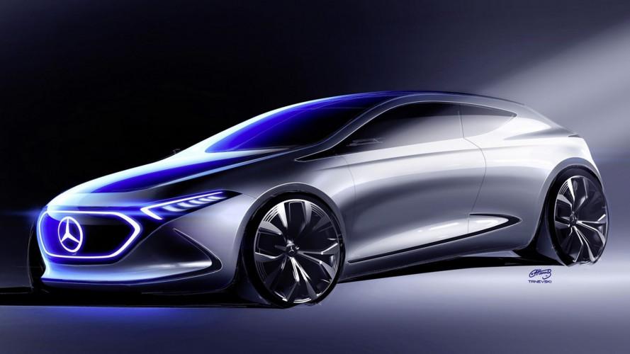 Mercedes Concept EQ A, un nuovo teaser ne svela le forme