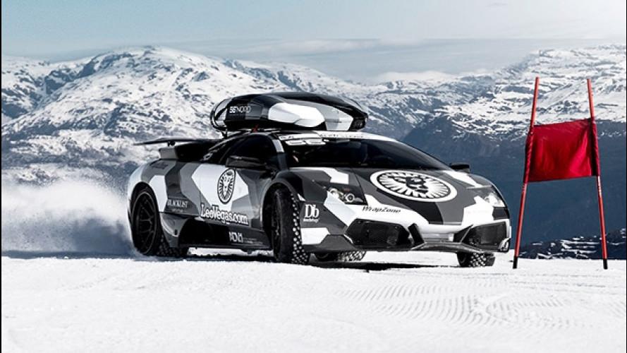 Lamborghini Murcielago, Jon Olsson e la sfida alla montagna [VIDEO]