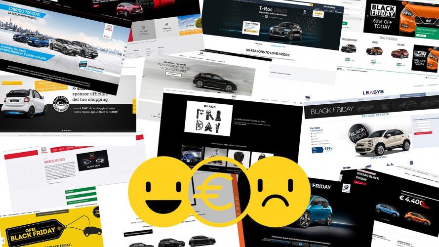 Promozioni auto Black Friday 2017, perché convengono e perché no