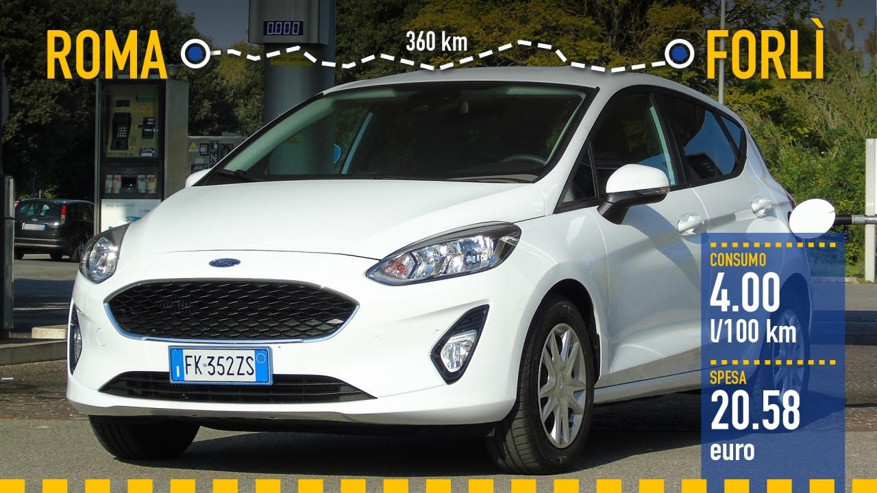 [Copertina] - Ford Fiesta 1.0, la prova dei consumi reali