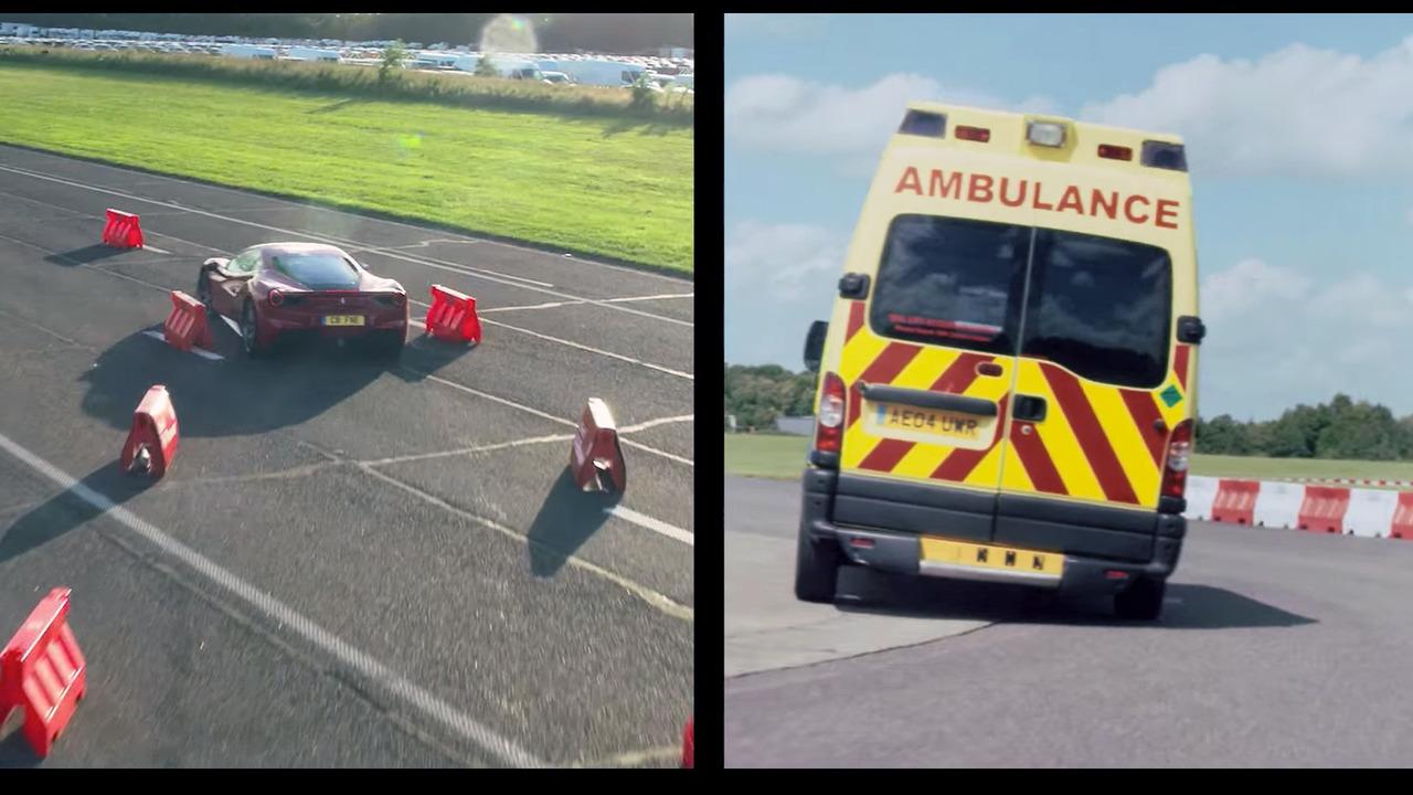 Sebastian Vettel fait la course en ambulance contre une Ferrari 488 GTB