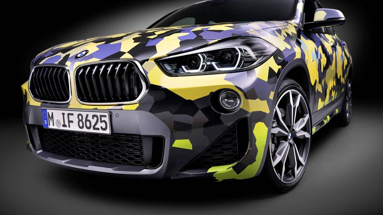 BMW X2 with digital camo
