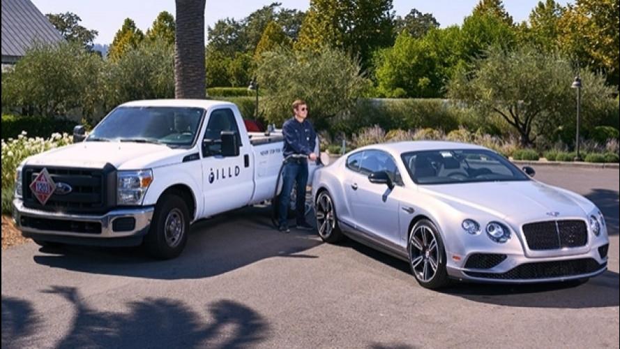 Bentley fa il pieno di carburante a domicilio