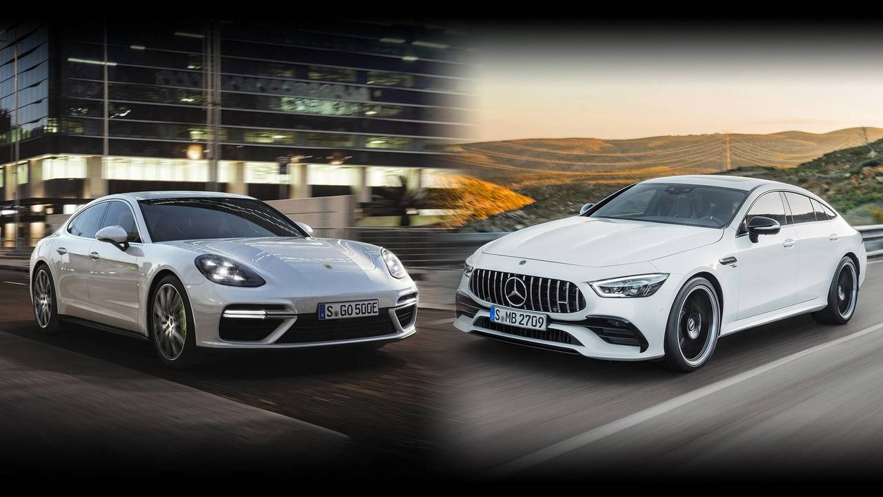 Mercedes-AMG GT Vs. Porsche Panamera Turbo S E-Hybrid