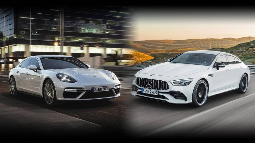 Super Four-Doors: Mercedes-AMG GT Vs. Porsche Panamera