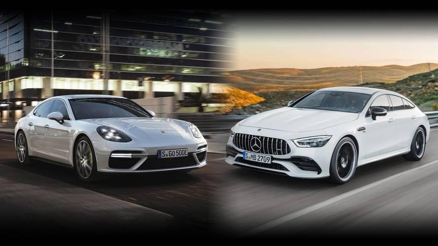 Mercedes-AMG GT Coupé 4 Puertas vs. Porsche Panamera: duelo épico
